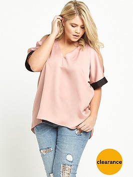 ri-plus-cold-shoulder-top-pink