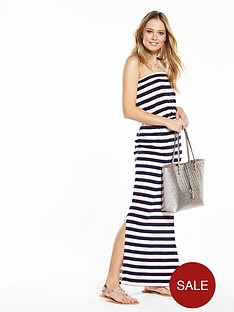 v-by-very-bandeau-maxi-dress-navy-red-amp-white-stripe