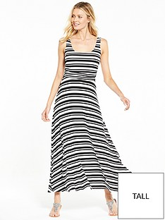 v-by-very-tall-stripe-ruche-maxi-dress-blackwhitenbsp