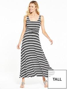 v-by-very-tall-stripe-ruche-maxi-dress-blackwhitenbsp