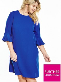 v-by-very-curve-curve-fluted-sleeve-and-hem-shift-dress-cobalt-blue