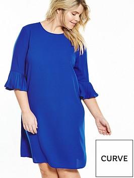 v-by-very-curve-curve-fluted-sleeve-and-hem-shift-dress-cobalt-blue