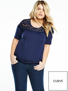 v-by-very-curve-curve-lace-yoke-top-navy