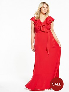 v-by-very-curve-curve-ruffle-maxi-dress-red