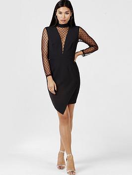 girls-on-film-polka-dot-mesh-dress