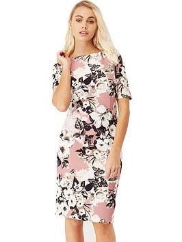 paper-dolls-short-sleeve-floral-midi-dress-rose