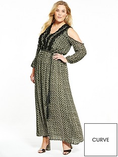 elvi-diamond-print-maxi-dress-khaki