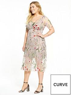elvi-curve-floral-net-dress