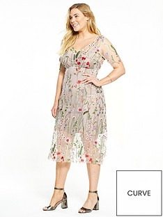 elvi-floral-net-dress