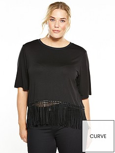 elvi-top-with-fringe-black