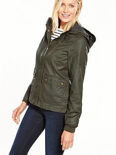 v-by-very-short-waxed-effect-jacket-khaki