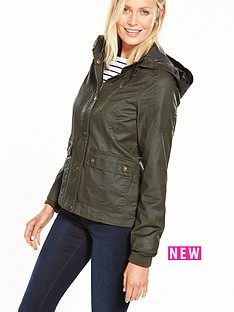 v-by-very-short-waxed-effect-jacket-khaki