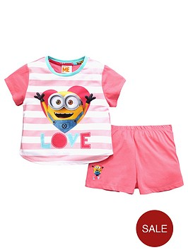 minions-girls-short-pyjamas