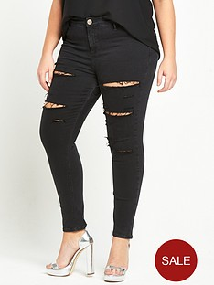 ri-plus-molly-ripped-jeans-black