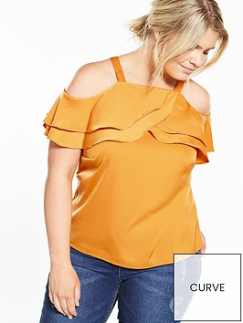 lovedrobe-cold-shoulder-ruffle-detail-top