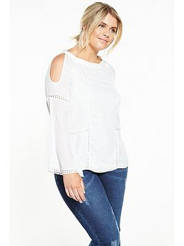 Lovedrobe Cold Shoulder Detail Blouse