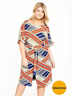 lovedrobe-printed-tie-waist-wiggle-dress