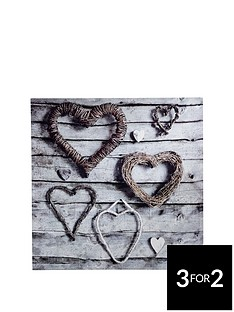arthouse-rope-hearts-canvas-wall-art