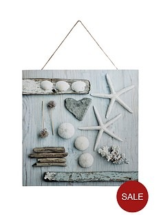 arthouse-seaside-shells-canvas-wall-art-with-rope