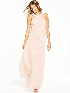 little-mistress-3d-floral-maxi-dress-nude