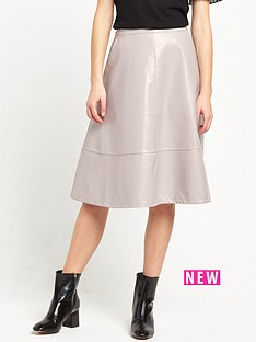 lost-ink-patent-midi-skirt-grey