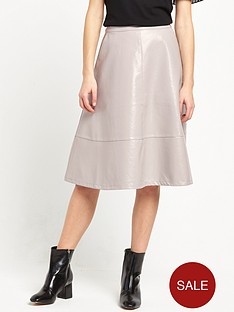 lost-ink-patent-midi-skirt-grey