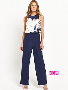 little-mistress-2-in-1nbspfloral-jumpsuit-navy