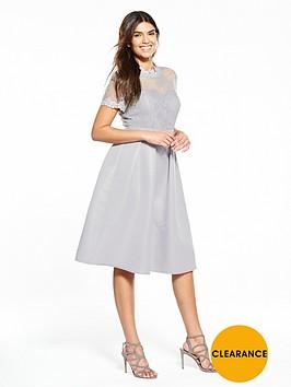 little-mistress-lace-top-full-skirt-midi-dress-ndash-grey