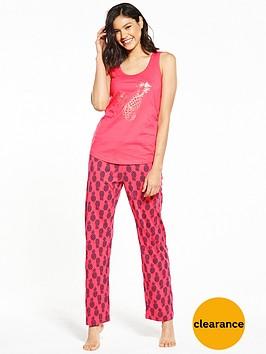 v-by-very-pina-colada-pyjama-set