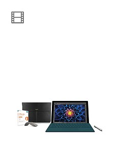 microsoft-limited-edition-surface-pro-4-i5-256gb-bundle-including-teal-type-cover-surface-pen-ted-baker-sleeve-arc-touch-bluetoothnbspmouse-and-office-365-home