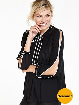 v-by-very-piped-detail-split-shoulder-blouse