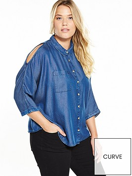 v-by-very-curve-curve-cold-shoulder-chambray-shirt
