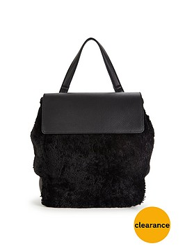 warehouse-shearling-rucksack-black
