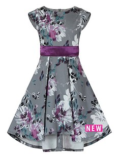 little-misdress-girls-grey-floral-print-dress-with-bow