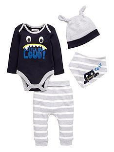 ladybird-baby-boys-little-but-loud-layette-set-4-piece