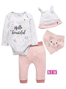 ladybird-baby-girls-kitten-and-bunny-layette-set-4-piece