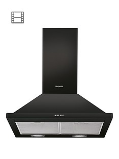 hotpoint-phpn64famk-60cm-chimney-cooker-hood-black