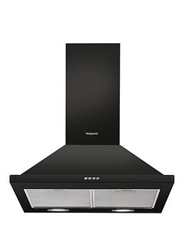 hotpoint-phpn64famk-60cm-chimney-cooker-hood-black