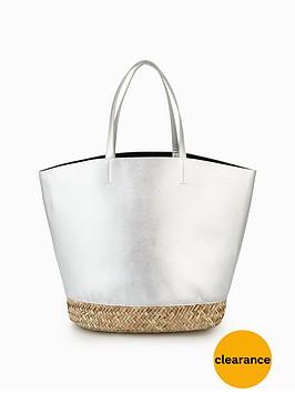v-by-very-metallic-bucket-beach-bag-silver