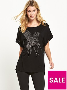 replay-metal-wire-detail-t-shirt-black