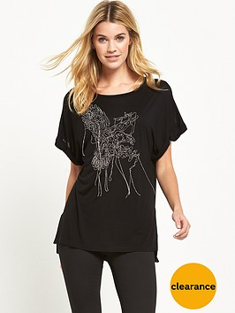 replay-metal-wire-detail-t-shirt-black