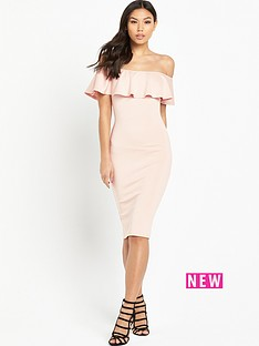 ax-paris-bardot-frill-dress-pink