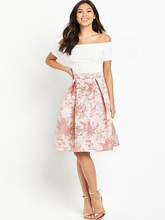 ax-paris-bardot-2-in-1-midi-dress-pink