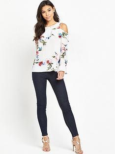 ax-paris-cold-shoulder-floral-blouse