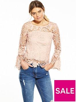 ax-paris-long-sleeve-crotchet-blouse-pink