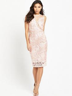 ax-paris-midi-crotchet-dress-pink