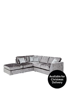 ideal-home-shimmer-left-hand-corner-chaise-sofa-with-footstool