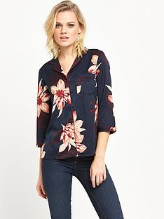 vero-moda-fiji-three-quarternbspsleeve-shirt-navy