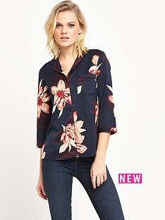vero-moda-fiji-three-quarternbspsleeve-shirt-navy