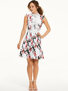 myleene-klass-pleated-lace-panel-tea-dress